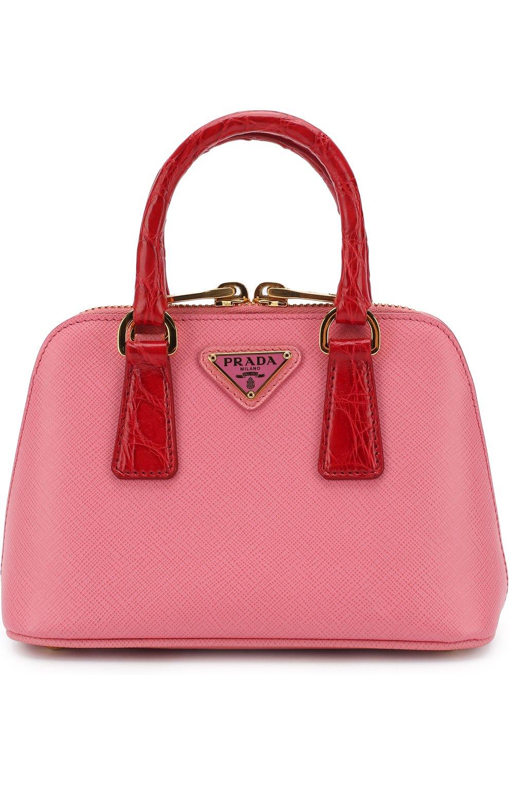 77dd482597aa Сумка-тоут Mini Promenade Prada розовая цвета | Фото №1