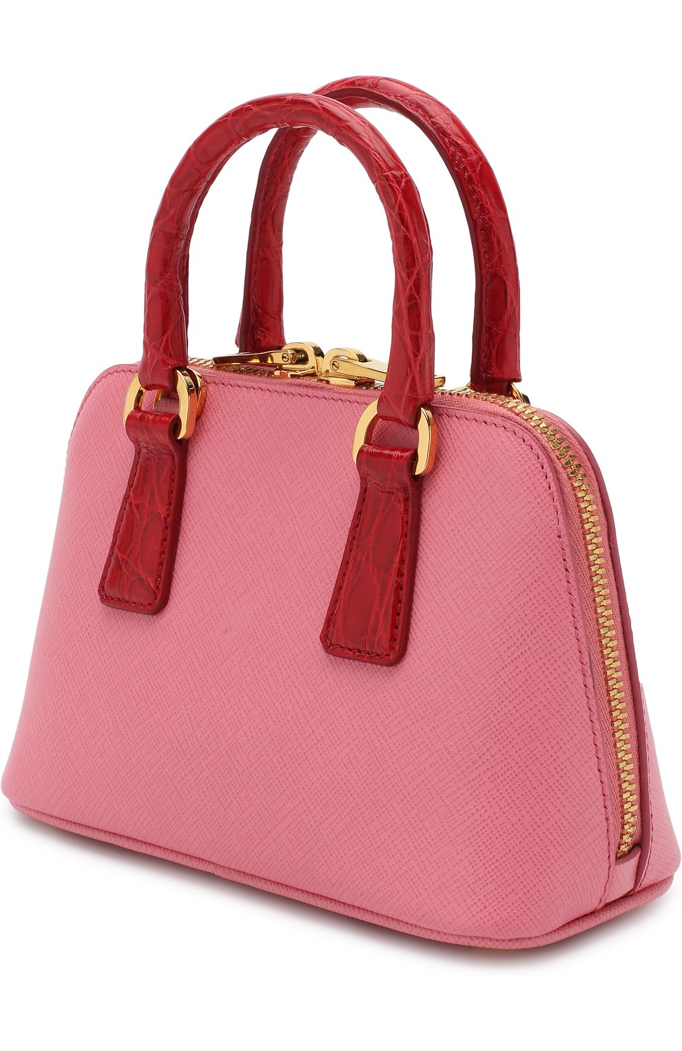 c33e944432c7 Сумка-тоут Mini Promenade Prada розовая цвета | Фото №3