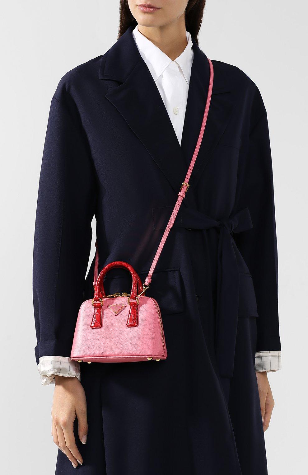 90a78cd59823 Сумка-тоут Mini Promenade Prada розовая цвета | Фото №5