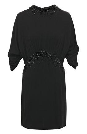 Приталенное мини-платье с декоративной отделкой | Фото №1