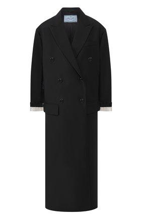 Однотонное двубортное пальто | Фото №1
