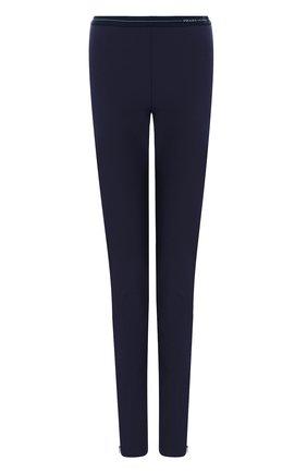 Однотонные брюки с эластичным поясом и логотипом бренда | Фото №1