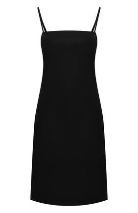 Однотонное мини-платье на тонких бретельках | Фото №1