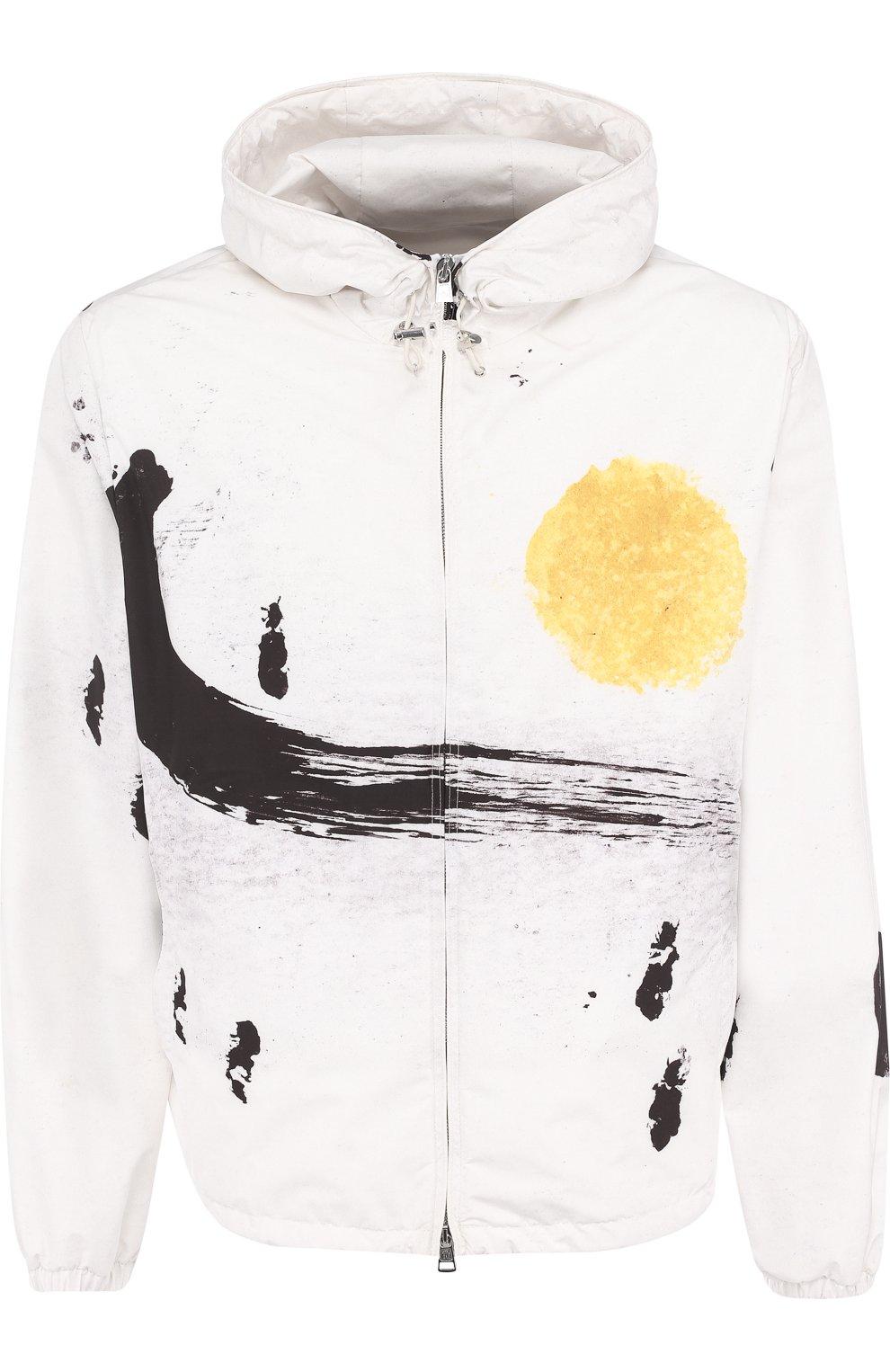 Мужская куртка alexandrite на молнии с капюшоном MONCLER белого цвета, арт. D1-091-41649-05-549RJ | Фото 1