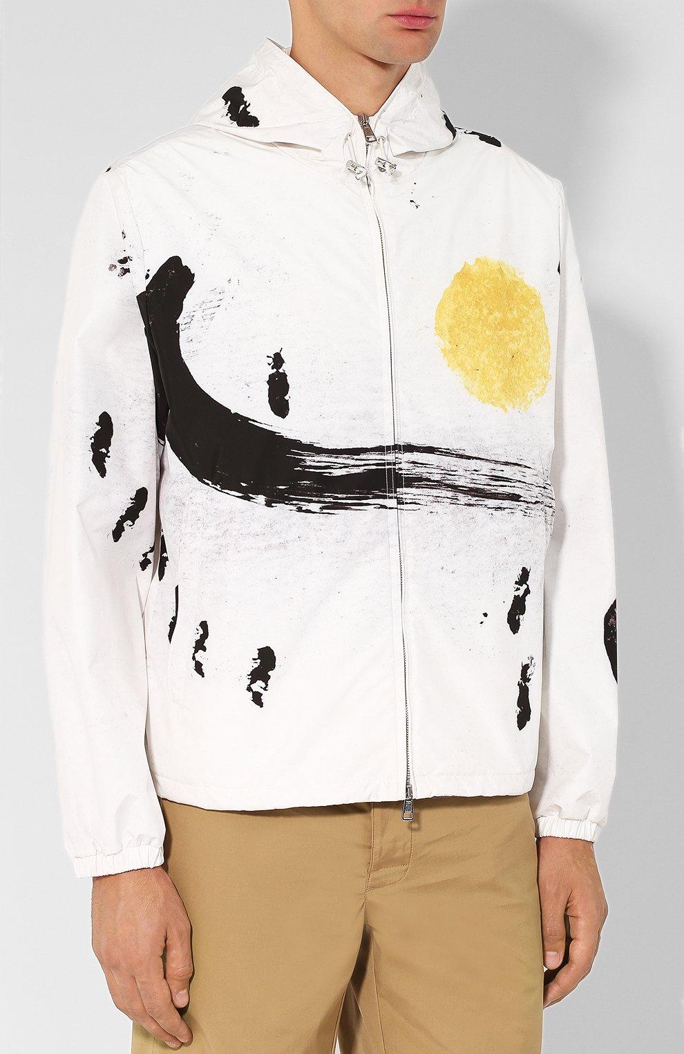 Мужская куртка alexandrite на молнии с капюшоном MONCLER белого цвета, арт. D1-091-41649-05-549RJ | Фото 3