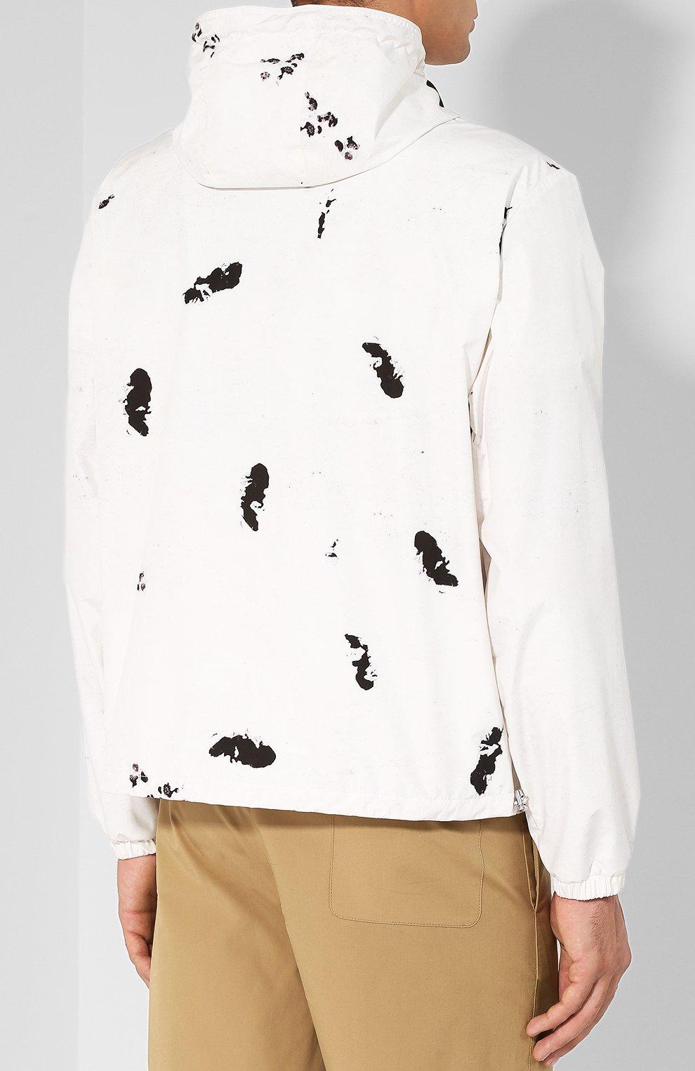 Мужская куртка alexandrite на молнии с капюшоном MONCLER белого цвета, арт. D1-091-41649-05-549RJ | Фото 4