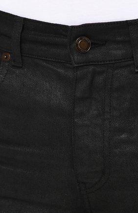 Джинсы зауженного кроя Saint Laurent черные | Фото №5