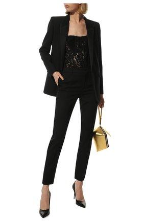 Однотонные шерстяные брюки со стрелками | Фото №2