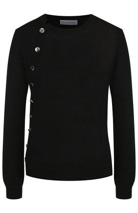 Шерстяной пуловер с контрастными пуговицами | Фото №1