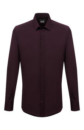 Мужская хлопковая сорочка с воротником кент DOLCE & GABBANA бордового цвета, арт. G5EJ0T/FUMRY | Фото 1