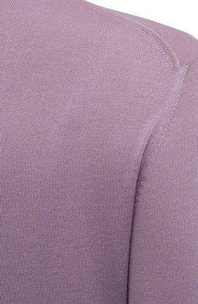 Женская кашемировая водолазка RALPH LAUREN лилового цвета, арт. 290615195 | Фото 5