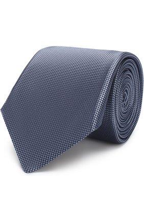 Мужской однотонный шелковый галстук CORNELIANI светло-синего цвета, арт. 82U302-8820302/00   Фото 1