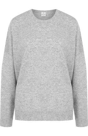 Однотонный пуловер со спущенным рукавом FTC темно-серый   Фото №1