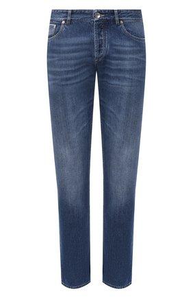 Мужские джинсы BRUNELLO CUCINELLI синего цвета, арт. ME228B2220   Фото 1