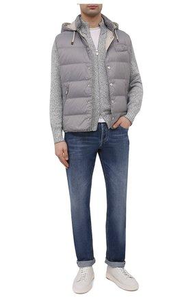 Мужские джинсы BRUNELLO CUCINELLI синего цвета, арт. ME228B2220   Фото 2