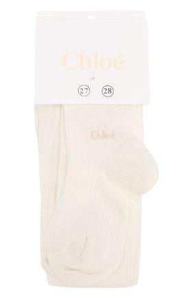Детские колготы из хлопка CHLOÉ бежевого цвета, арт. C10D05 | Фото 1