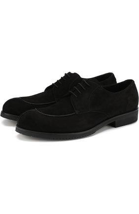 Замшевые дерби на шнуровке Aldo Brue черные | Фото №1