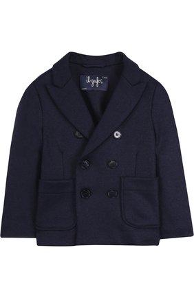Двубортный пиджак из смеси шерсти и полиамида | Фото №1