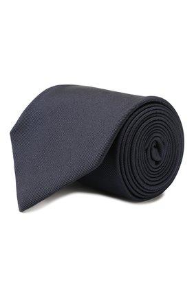 Мужской шелковый галстук BRIONI темно-синего цвета, арт. 062I00/PZ418 | Фото 1