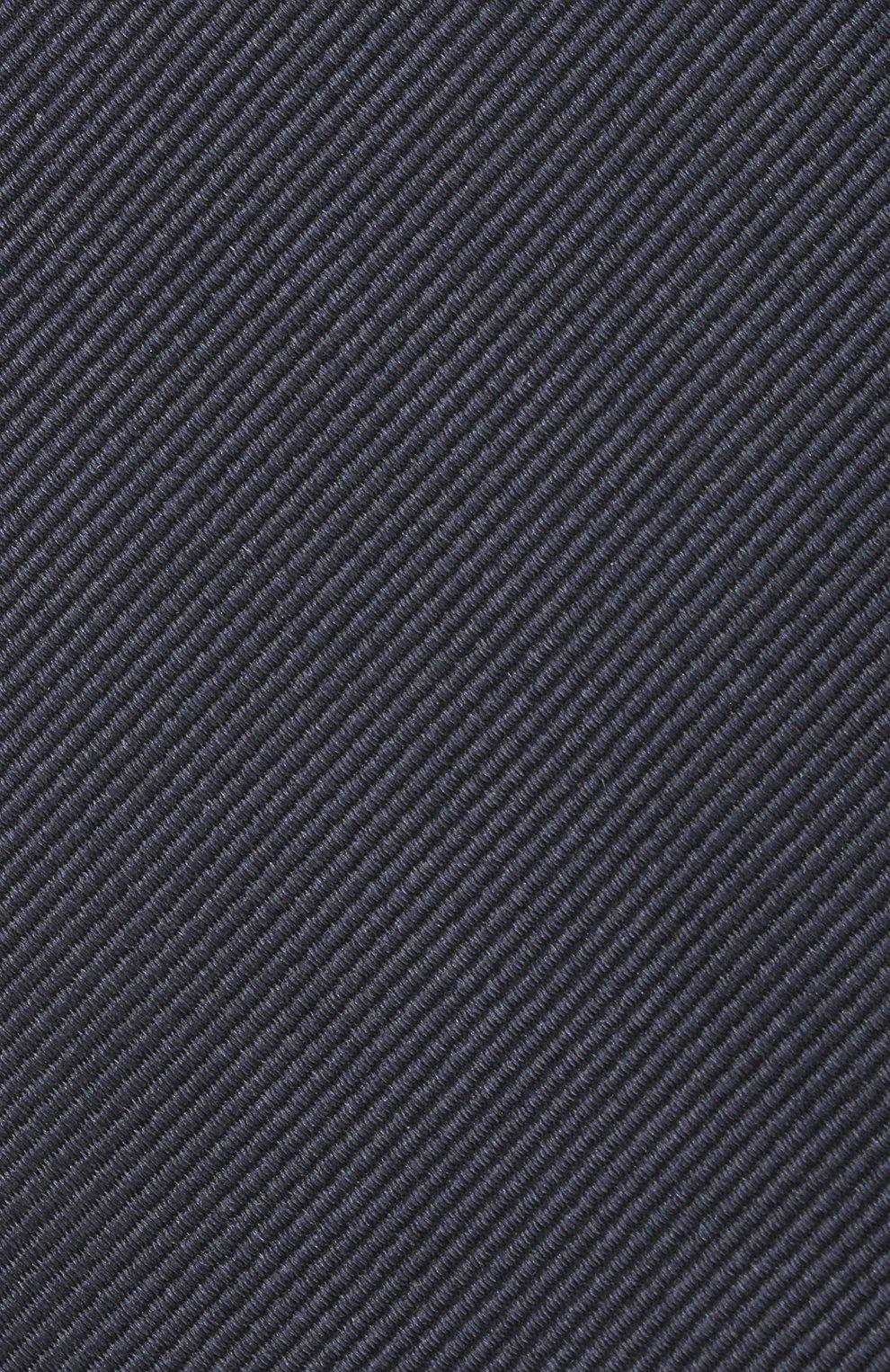 Мужской шелковый галстук BRIONI темно-синего цвета, арт. 062I00/PZ418 | Фото 3