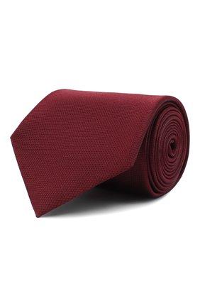 Мужской шелковый галстук BRIONI бордового цвета, арт. 062I00/07455 | Фото 1