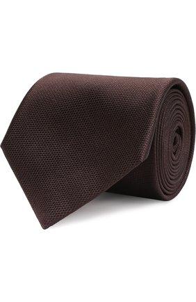 Однотонный шелковый галстук | Фото №1
