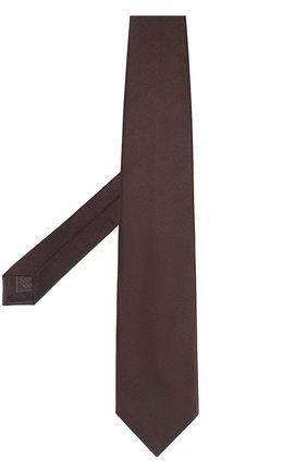 Однотонный шелковый галстук | Фото №2