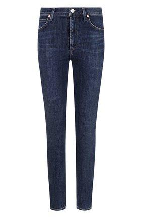 Женские джинсы-скинни с потертостями CITIZENS OF HUMANITY синего цвета, арт. 1611-694 | Фото 1