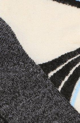 Шерстяные носки с логотипом бренда Norveg светло-серые | Фото №1
