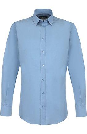 Мужская хлопковая сорочка DOLCE & GABBANA голубого цвета, арт. G5EJ0T/FU5K9 | Фото 1