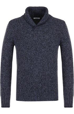 Шерстяной свитер с шалевым воротником   Фото №1