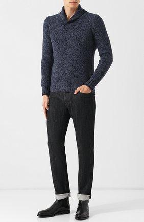 Шерстяной свитер с шалевым воротником   Фото №2