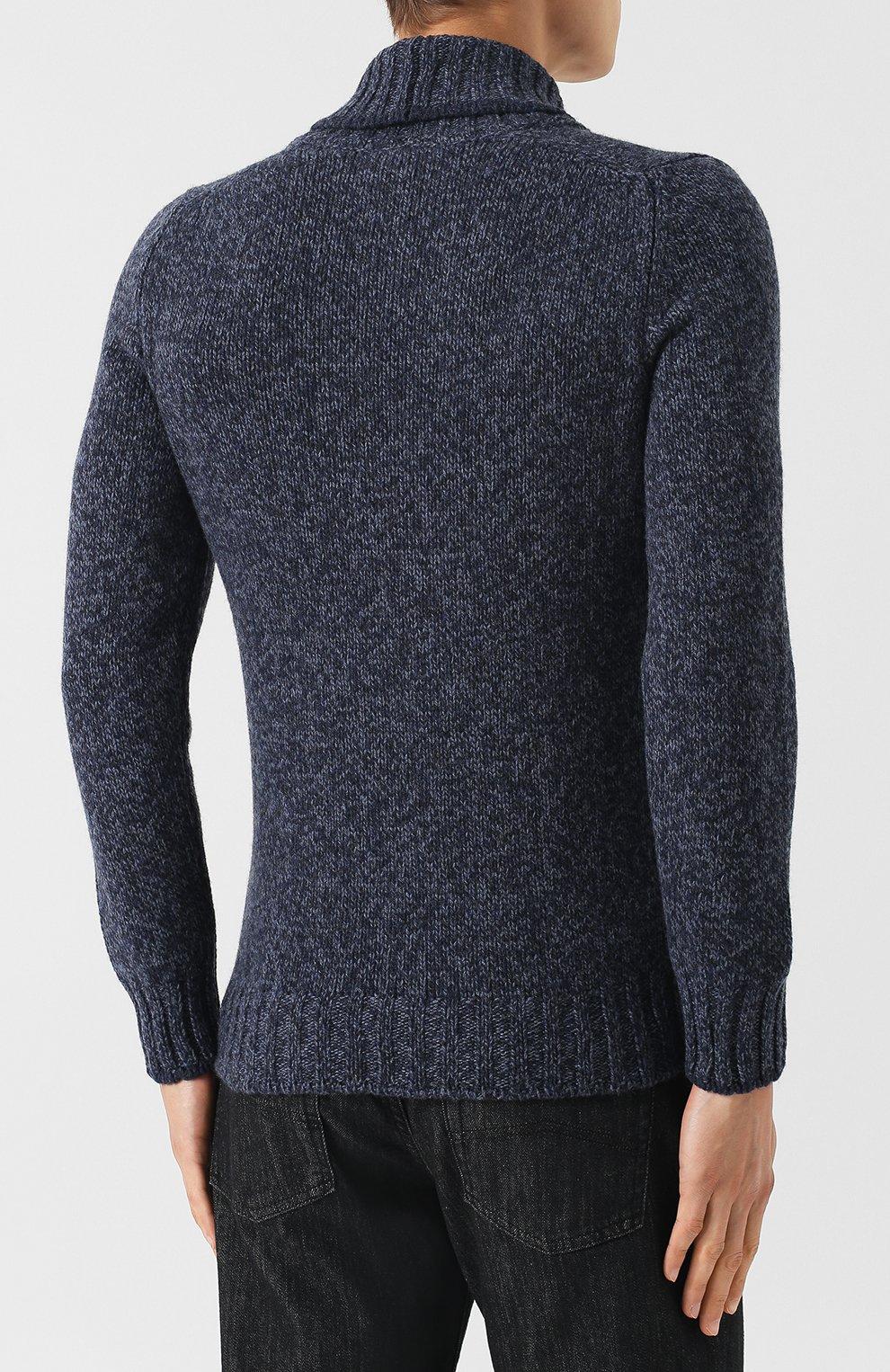 Шерстяной свитер с шалевым воротником   Фото №4