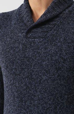 Шерстяной свитер с шалевым воротником   Фото №5