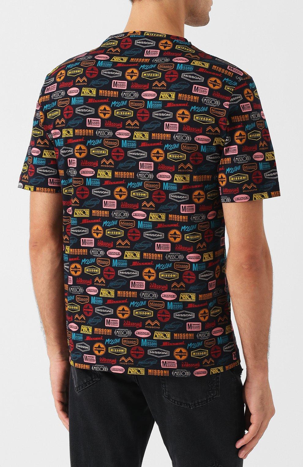 Хлопковая футболка с принтом   Фото №4