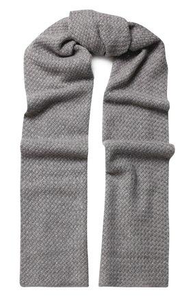 Кашемировый шарф фактурной вязки с отделкой стразами | Фото №1