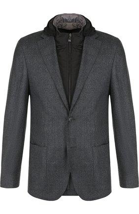 Однобортный шерстяной пиджак с подстежкой