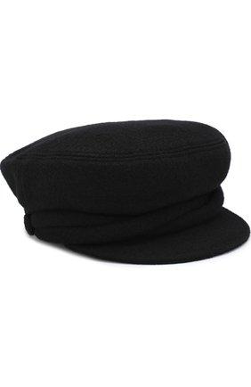 Шерстяное кепи Maison Michel черного цвета | Фото №1