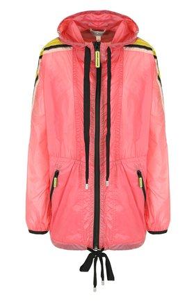 Куртка с капюшоном и контрастной отделкой Marc Jacobs розовая | Фото №1