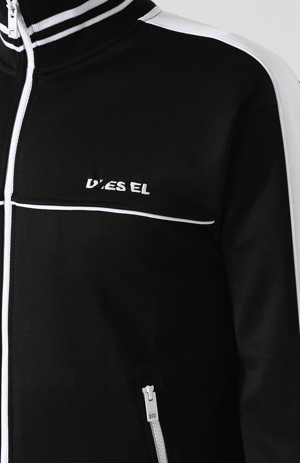 Кардиган на молнии с воротником-стойкой Diesel черный   Фото №5