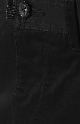 Хлопковые укороченные брюки прямого кроя Diesel черные | Фото №5