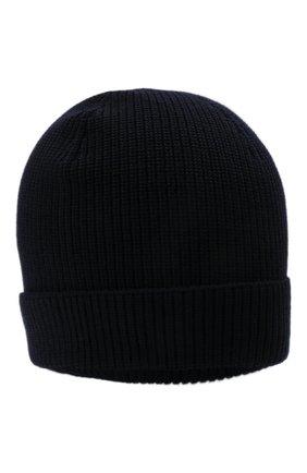 Мужская шерстяная шапка GRAN SASSO темно-синего цвета, арт. 23129/24604 | Фото 1 (Материал: Шерсть; Статус проверки: Проверено, Проверена категория; Кросс-КТ: Трикотаж)