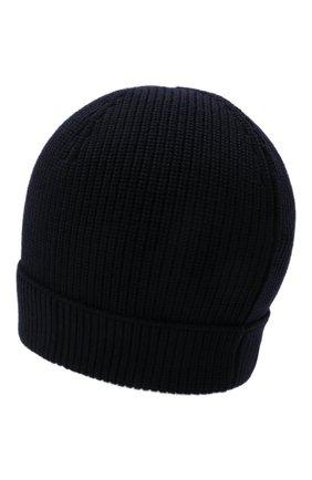 Мужская шерстяная шапка GRAN SASSO темно-синего цвета, арт. 23129/24604 | Фото 2 (Материал: Шерсть; Статус проверки: Проверено, Проверена категория; Кросс-КТ: Трикотаж)