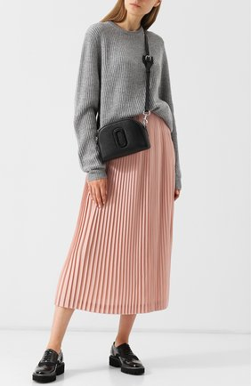 Вязаный кашемировый пуловер с круглым вырезом FTC темно-серый   Фото №1