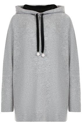 Кашемировый пуловер с капюшоном FTC зеленый   Фото №1