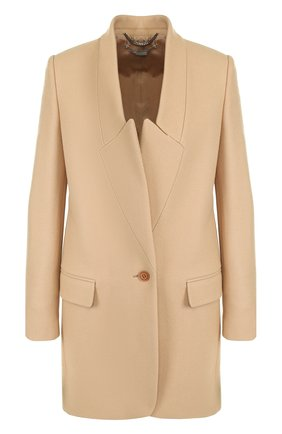 Женское однотонное шерстяное пальто прямого кроя STELLA MCCARTNEY бежевого цвета, арт. 531954/SJB30 | Фото 1