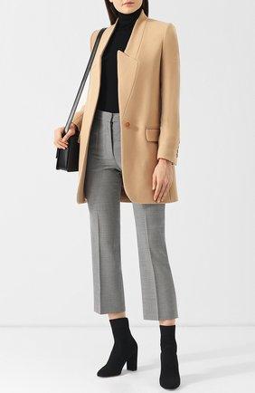 Женское однотонное шерстяное пальто прямого кроя STELLA MCCARTNEY бежевого цвета, арт. 531954/SJB30 | Фото 2