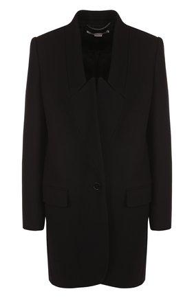 Однотонное шерстяное пальто прямого кроя | Фото №1