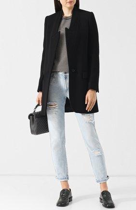 Женское однотонное шерстяное пальто прямого кроя STELLA MCCARTNEY черного цвета, арт. 531954/SJB30 | Фото 2