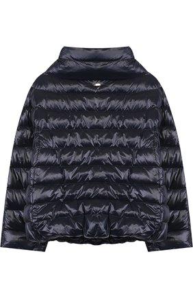 Стеганая куртка с воротником-стойкой | Фото №2